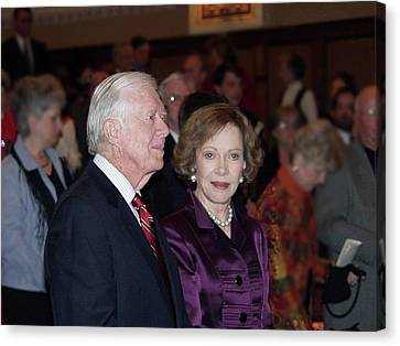President And Mrs. Jimmy Carter Nobel Celebration Canvas Print