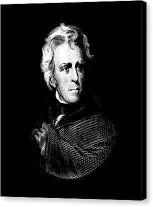 President Andrew Jackson Graphic Canvas Print by War Is Hell Store