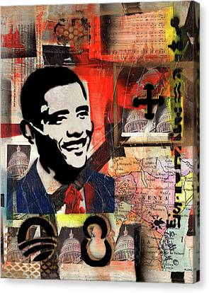 President Barack Obama Canvas Print by Everett Spruill