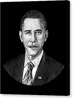 President Barack Obama Graphic Canvas Print by War Is Hell Store