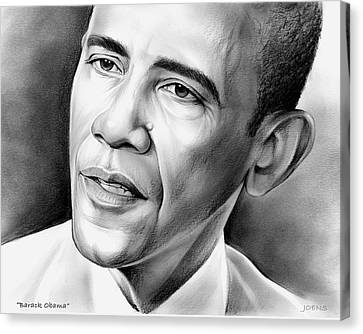 Barack Obama Canvas Print - President Barack Obama by Greg Joens