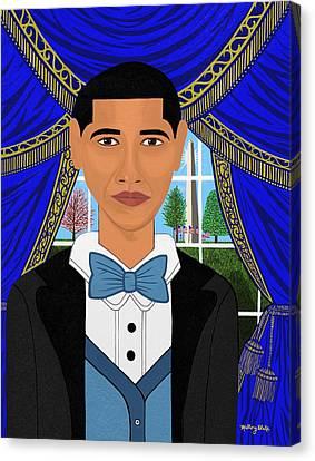 President Barack Obama Canvas Print by Mallory Blake