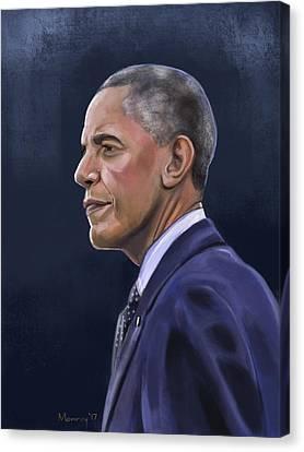 Barack Canvas Print - President Barack Obama by Mark Monroy