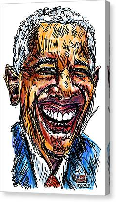 Pre-election Canvas Print - President Barack Obama by Robert Yaeger
