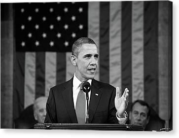 President Barack Obama - State Of The Union Address Canvas Print