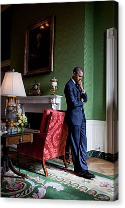President Barack Obama Waits Canvas Print by Everett