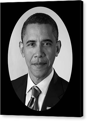 President Barack Obama Canvas Print by War Is Hell Store