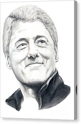 President Bill Clinton Canvas Print by Murphy Elliott