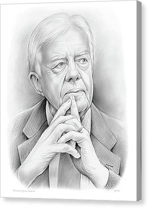 President Carter Canvas Print by Greg Joens