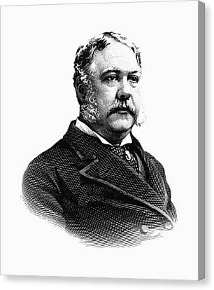 President Chester Arthur Graphic Canvas Print by War Is Hell Store