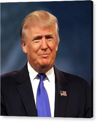President Donald John Trump Portrait Canvas Print by Movie Poster Prints