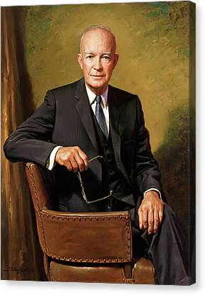 President Dwight D Eisenhower Canvas Print by James Anthony Wills