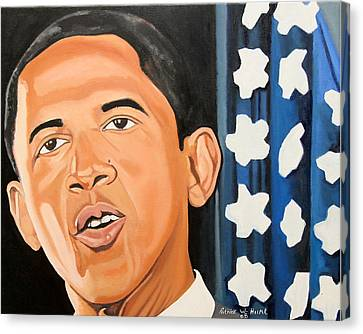 President Elect Obama Canvas Print by Patrick Hunt