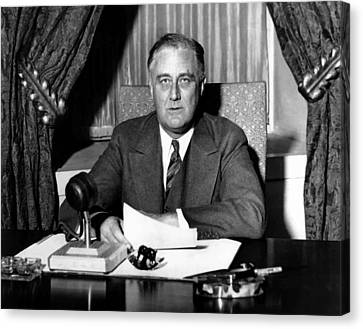President Franklin Roosevelt Canvas Print by War Is Hell Store