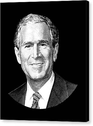 President George W. Bush Graphic Canvas Print by War Is Hell Store