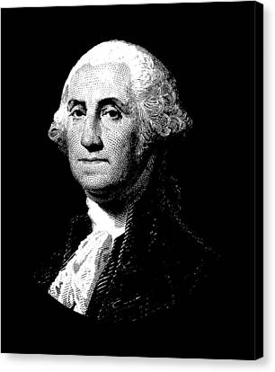 President George Washington Graphic  Canvas Print