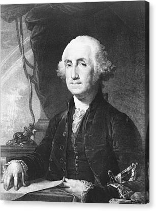 President George Washington Canvas Print by International  Images