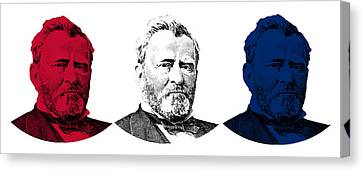 President Grant Red White And Blue Canvas Print by War Is Hell Store