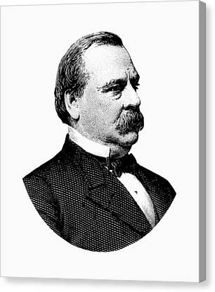 President Grover Cleveland - Black And White Canvas Print