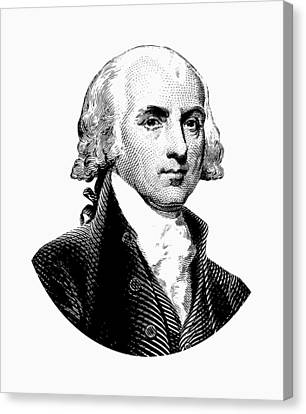 James Madison Canvas Print - President James Madison Graphic Black And White by War Is Hell Store