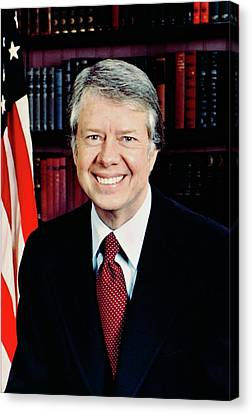President Jimmy Carter Canvas Print by Official White House Photographer