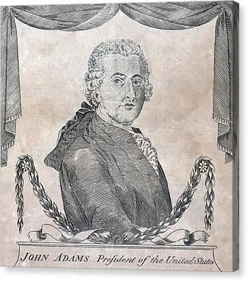 President John Adams, Engraving By Amos Canvas Print by Everett
