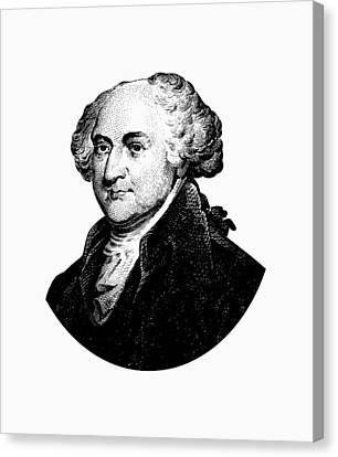 President John Adams Graphic Black And White Canvas Print by War Is Hell Store