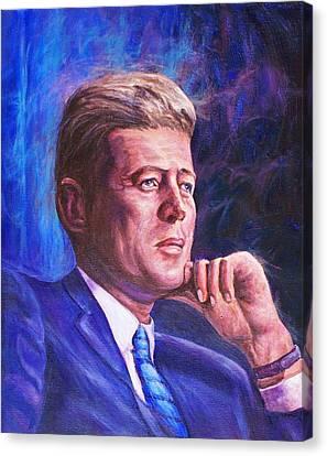 President John F. Kennedy Canvas Print by Ed Breeding