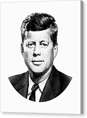 President John F. Kennedy Graphic Canvas Print by War Is Hell Store