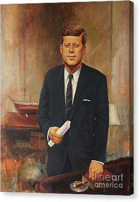 Canvas Print featuring the painting President John F. Kennedy by Noe Peralez