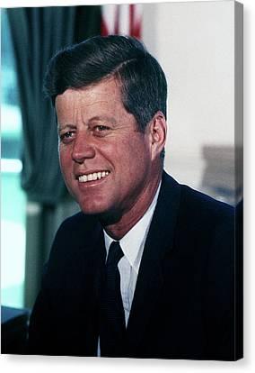 President John F Kennedy Canvas Print by White House Photographer