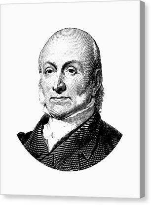 President John Quincy Adams Graphic  Canvas Print by War Is Hell Store