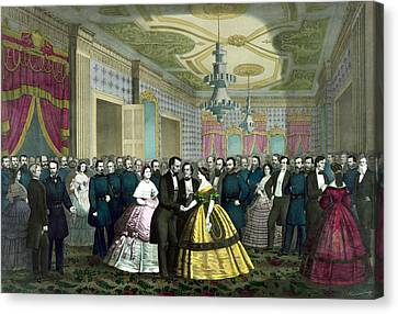 President Lincoln's Last Reception Canvas Print