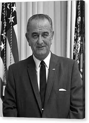 Democratic Canvas Print - President Lyndon Johnson by War Is Hell Store