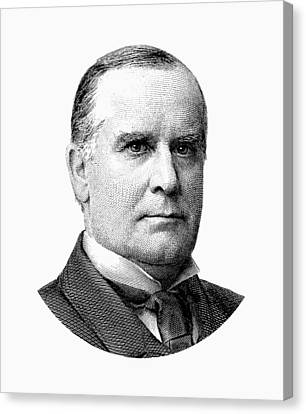 President Mckinley Graphic - Black And White Canvas Print by War Is Hell Store