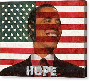 Democrats Canvas Print - President Obama Hope by Dan Sproul