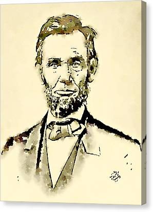 President Of The United States Of America Abraham Lincoln Canvas Print by John Springfield