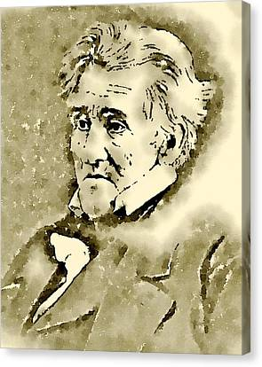 President Of The United States Of America Andrew Jackson Canvas Print by John Springfield