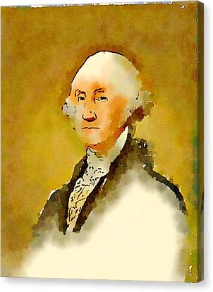 President Of The United States Of America George Washington Canvas Print by John Springfield