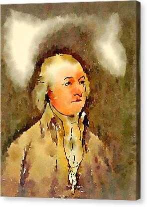 President Of The United States Of America John Adams Canvas Print by John Springfield