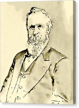 President Of The United States Of America Rutherford Hayes Canvas Print by John Springfield