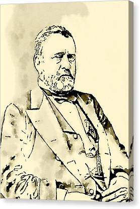 President Of The United States Of America Ulysses Grant Canvas Print by John Springfield