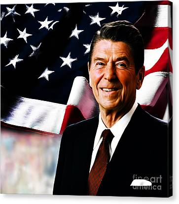 President Ronald Reagan Canvas Print