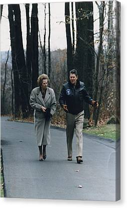 President Reagan Walking Canvas Print