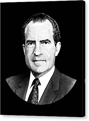 President Richard Nixon Graphic Canvas Print