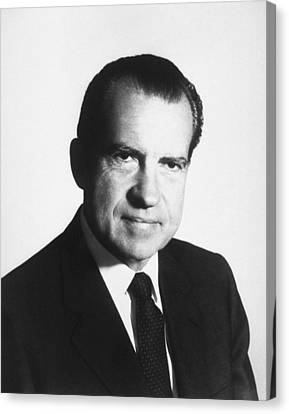 President Richard Nixon Portrait  Canvas Print by War Is Hell Store