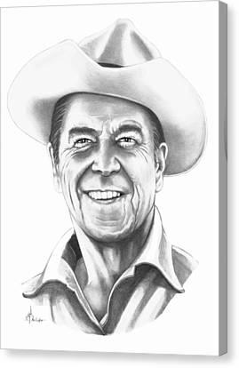 President Ronald Regan Canvas Print by Murphy Elliott