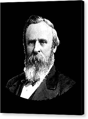President Rutherford B. Hayes Graphic Canvas Print