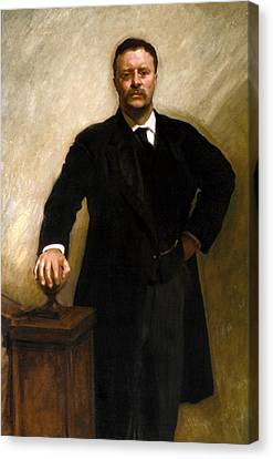 President Theodore Roosevelt Painting Canvas Print