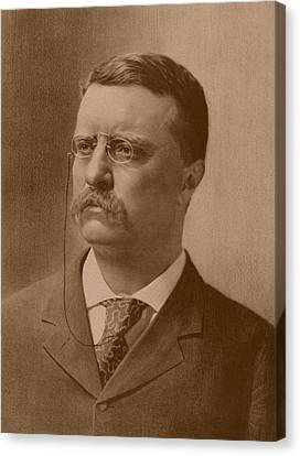 President Theodore Roosevelt - Vintage Canvas Print by War Is Hell Store